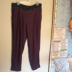 Cropped trouser swishy pants